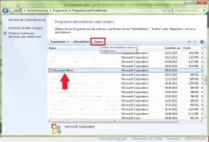 Microsoft Programm ändern