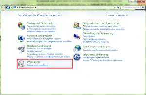 Systemsteuerung Windows