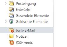 Spam Mails im Postfach