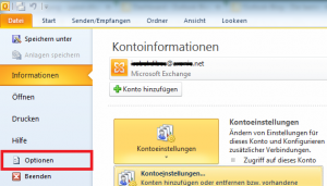 Outlook Optionen Einstellungen