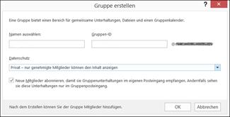 Outlook 2016 Benutzergruppe erstellen