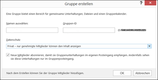 Outlook 2016: Benutzergruppen erstellen