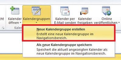Outlook Kalendergruppen erstellen – so geht's