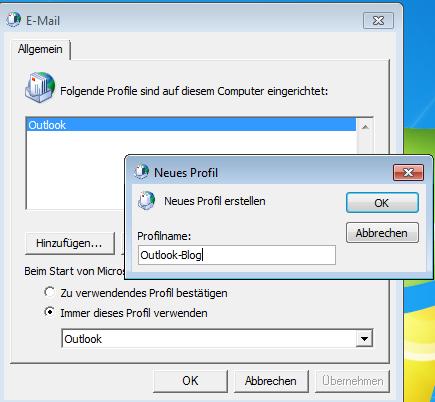 Neues Profil für Outlook 365 anlegen – so einfach geht´s