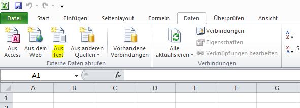 Excel-Kontaktliste zum Versenden von Serienmails verwenden